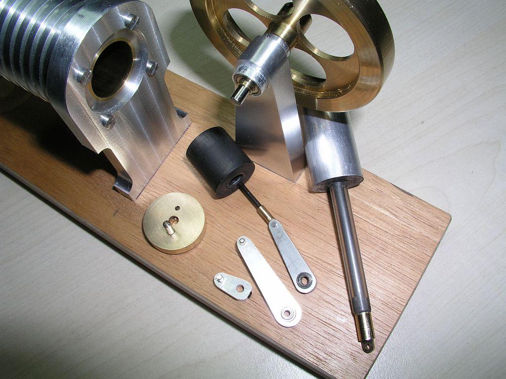 Gamma-Stirling und Handwärmestirling